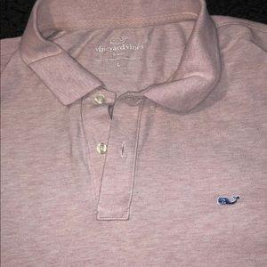 Mens VINEYARD VINES Pink Short Sleeve Polo Shirt L